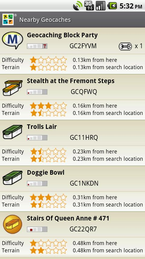 android geocaching