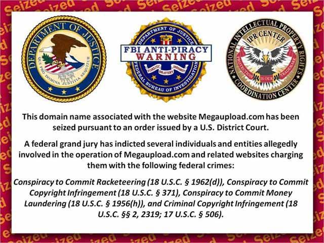 megaupload zakázan FBI CIA americká vláda zmrdi