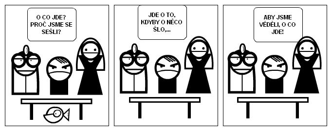 schůze vedení firmy