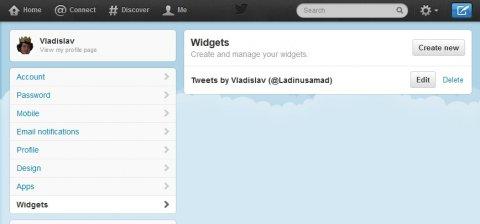 Drupal: twitter v bloku